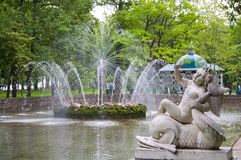Fountain in lower park of Peterhof Royalty Free Stock Images