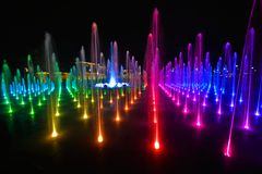 Fountain in Lublin stock photography