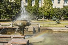 Fountain in Lutsk. Ukraine. Summer city Royalty Free Stock Image