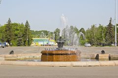 Fountain in Luzhniki Stock Image