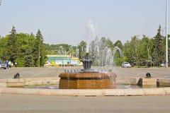 Fountain in Luzhniki Stock Image