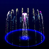 A fountain made of fireworks is round. Fiery Jet Stock Photos