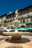 Fountain Madonna on Piazza delle Erbe in Verona Stock Image