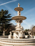Fountain in madrid Royalty Free Stock Images
