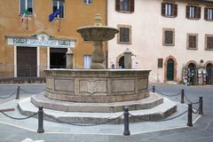 Deruta, perugia, umbria, italy, europe. Fountain in the main square of the town of deruta, province of perugia, umbria, italy Stock Images