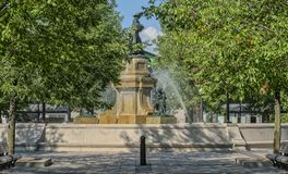 Fountain at the Maisonneuve Market Montreal royalty free stock photos