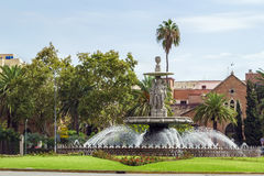 Fountain in Malaga, Spain Stock Photography
