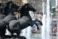 Fountain on Manezh square - Moscow, Russia Royalty Free Stock Images