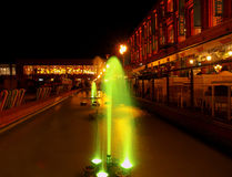 Fountain in Manufaktura. Royalty Free Stock Image