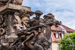 Margrave fountain Bayreuth royalty free stock photo