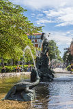 Fountain at Mariatorget Sodermalm Stockholm Royalty Free Stock Images