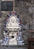 Fountain in Marina Grande, fishing village in Sorrento, Italy. Pictured is a fountain in the Marina Grande, a fishing village in Sorrento. Sorrento is a town royalty free stock images