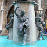 Fountain in the marion plaza,germany 2011 Royalty Free Stock Images