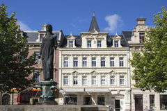 Fountain at the market place of Crimmitschau, Germany, 2015 Royalty Free Stock Photography