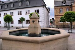 Fountain on the marketplace Stock Photo