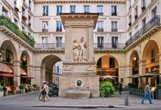 The fountain of Mars (La fontaine de Mars) Royalty Free Stock Photography