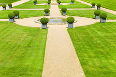 Fountain and meadows Royalty Free Stock Images