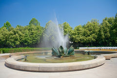 Fountain in Medical Garden (Medicka zahrada) in Bratislava, Slov Stock Photo