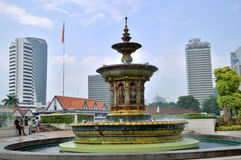 Fountain in Merdeka Square, Kuala Lumpur Royalty Free Stock Images