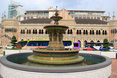 Fountain at Merdeka Square. Kuala Lumpur, Malaysia - April 5, 2013: Victorian Fountain at Merdeka Square is brought in from England to commemorate the diamond royalty free stock photography