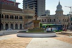Fountain in Merdeka Square in Kuala Lumpur Royalty Free Stock Photos