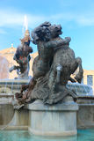 Fountain with Mermaid statues at Rome Stock Photos