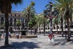 Placa Reial Barcelona Spain Stock Photography