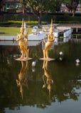 Fountain in Mini Siam Park Stock Image