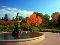 Fountain in Minneapolis Park. Fountain in Minneapolis Lyndale park, fall season Royalty Free Stock Image
