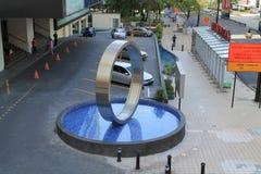 Fountain modelo redondo en ciudad Fotos de archivo
