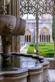 The fountain. The Monastery of Batalha, literally the Monastery of the Battle, is a Dominican convent in the civil parish of Batalha, in the district of Leiria stock images