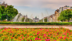 Fountain on Montgommery Roundabout in Brussels Royalty Free Stock Image