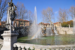 Fountain of the Months in Turin, Piedmont, Italy. stock images