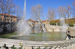 Fountain of the Months in Turin, Piedmont, Italy. Stock Photos