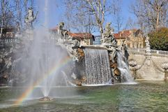 Fountain of the Months in Turin, Piedmont, Italy. Stock Photography