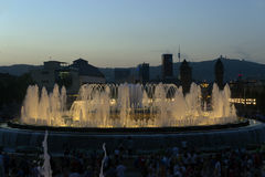 Fountain of Montjuic Royalty Free Stock Images