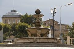 Fountain in the morning sun in Pyatigorsk, Russia Stock Photo