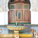 Fountain in morocco     africa old antique construction  mousque pal Royalty Free Stock Images