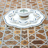 Fountain in morocco africa old antique construction  mousque pal Royalty Free Stock Image