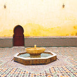 Fountain in morocco africa old antique construction  mousque pal Royalty Free Stock Photos