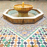 Fountain in morocco vvvafrica old antique construction  mousque pal Royalty Free Stock Images