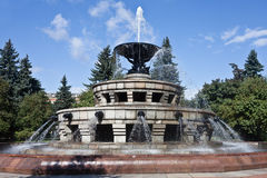 Fountain at Moscow State University Royalty Free Stock Photography