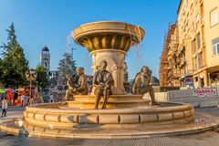 Fountain of the Mothers of Macedonia in Skopje Stock Photo
