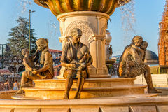 Fountain of the Mothers in Skopje Royalty Free Stock Photography