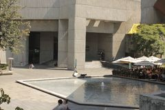 A fountain in MUAC, Mexico city royalty free stock photography