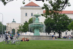 Fountain in Munich Royalty Free Stock Image