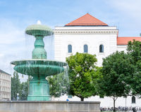 Fountain at the Munich University Stock Photos