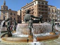 Valencia city  fountain. Fountain n Valencia City from Spain Royalty Free Stock Image