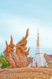 Fountain naga in Thai style Royalty Free Stock Photography