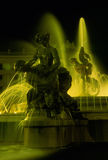 Fountain of the Naiads. Scenic view of fountain of the Naiads on Piazza della Repubblica illuminated at night, Rome, Italy Stock Photo